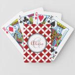 Cherry Red Nico Print Poker Cards