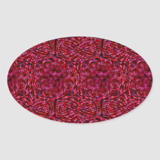 Cherry Red Oval Sticker