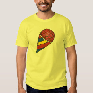 Cherry Red Patriotic Frozen Sno Cone Snocone Tee Shirt