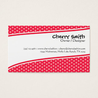 Cherry Red/Pink Modern Card