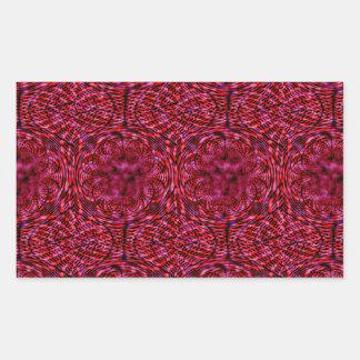 Cherry Red Rectangular Sticker