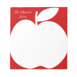 Cherry red writing note pads for school teacher