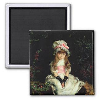 Cherry Ripe, 1879 2 Inch Square Magnet