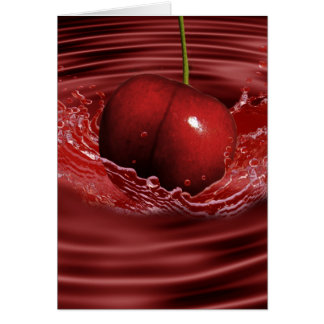 Cherry Ripples Stationery Note Card