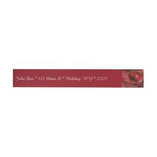 Cherry Ripples Wraparound Address Label