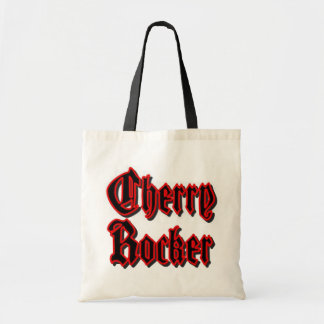 Cherry Rocker Bag/Tote - Black Text w/Red Border