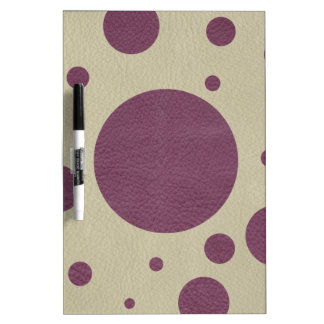 Cherry Scattered Spots on OffWhite Leather Texture Dry Erase Whiteboards