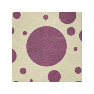 Cherry Scattered Spots on Stone Leather print