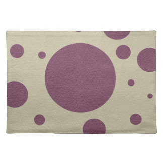 Cherry Scattered Spots on Stone Leather print Cloth Placemat