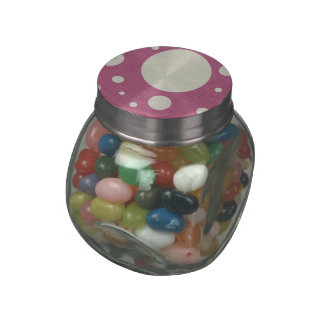 Cherry Scattered Spots on Stone Leather print Jelly Belly Candy Jars