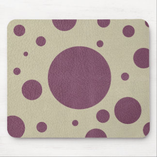 Cherry Scattered Spots on Stone Leather print Mouse Pad