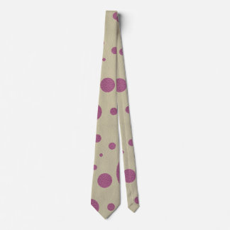 Cherry Scattered Spots on Stone Leather print Neck Tie