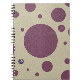 Cherry Scattered Spots on Stone Leather print Notebook