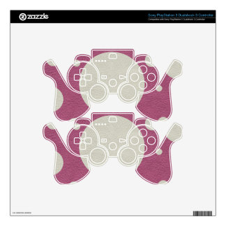 Cherry Scattered Spots on Stone Leather print PS3 Controller Decal