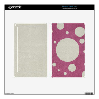 Cherry Scattered Spots on Stone Leather print Skins For Kindle Fire