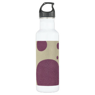 Cherry Scattered Spots on Stone Leather print Stainless Steel Water Bottle