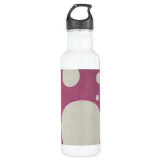 Cherry Scattered Spots on Stone Leather print Water Bottle