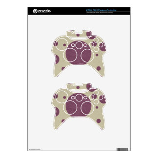 Cherry Scattered Spots on Stone Leather print Xbox 360 Controller Decal