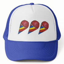 Cherry Shaved Ice Sno Cone Snocone Summer Snoball Trucker Hat