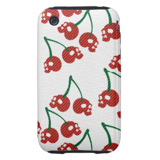 Cherry Skulls Red iPhone 3G/3GS Tough Case Tough iPhone 3 Cases