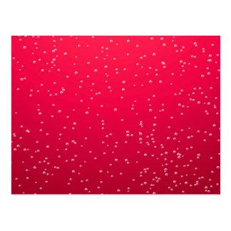 Cherry Soda with Tiny Bubbles Background Art Postcard