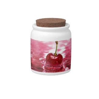 Cherry Splash Candy Jar