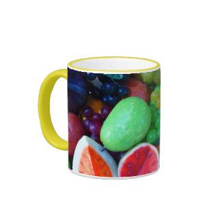 Cherry Splash Fruit Destiny Gifts Ringer Coffee Mug