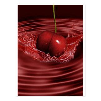 Cherry Splash Fruit Destiny Gifts Postcard