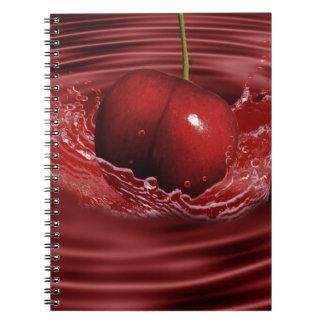 Cherry Splash Fruit Destiny Gifts Spiral Notebook
