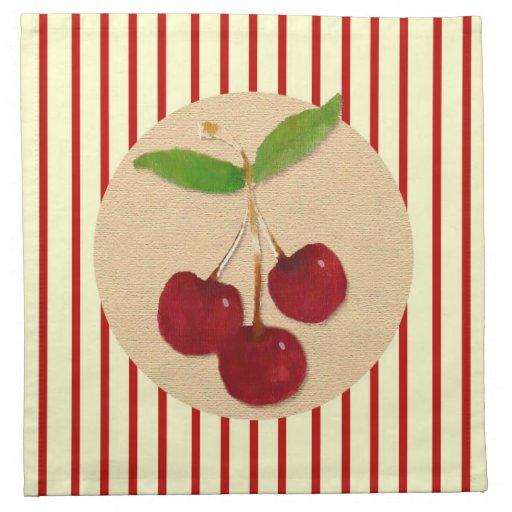 Cherry Striped Napkin