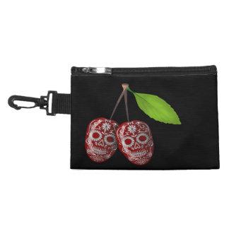 Cherry Sugar Skull Accessory Bags