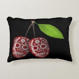 Cherry Sugar Skull Decorative Pillow
