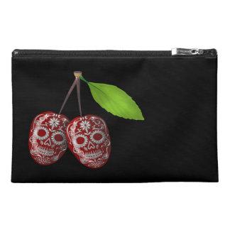 Cherry Sugar Skull Travel Accessory Bag