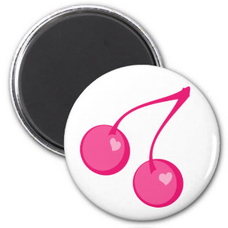Cherry Sweet-Hearts 2 Inch Round Magnet