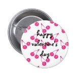 Cherry Sweet-Hearts Pinback Button