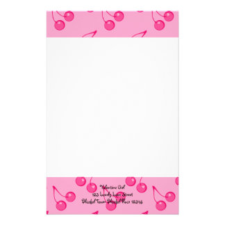 Cherry Sweet-Hearts Stationery Design