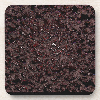 Cherry syrup digital art coasters