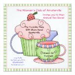 Cherry Tea Pot Invitation. Invitation