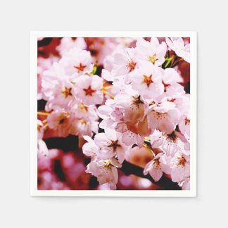 Cherry tender pink blossom disposable napkins
