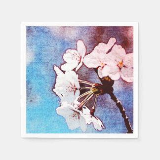 Cherry tender white blossom disposable napkins