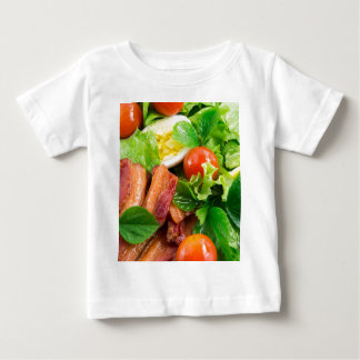 Cherry tomatoes, herbs, olive oil, eggs and bacon baby T-Shirt