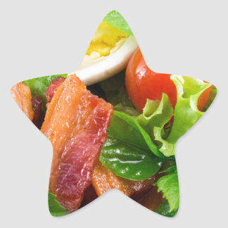 Cherry tomatoes, herbs, olive oil, eggs and bacon star sticker