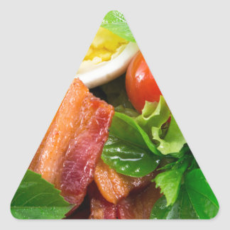 Cherry tomatoes, herbs, olive oil, eggs and bacon triangle sticker