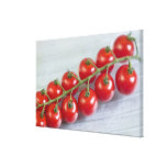 Cherry tomatoes on the vine For use in USA Stretched Canvas Prints