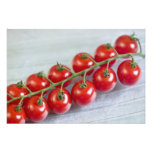 Cherry tomatoes on the vine For use in USA Photographic Print