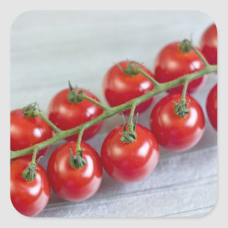 Cherry tomatoes on the vine For use in USA Square Sticker