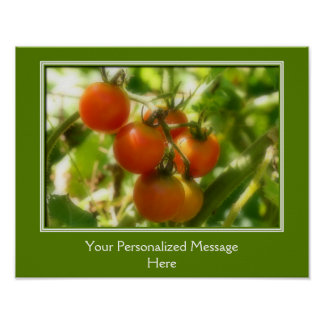 Cherry Tomatoes On The Vine Personalized Poster