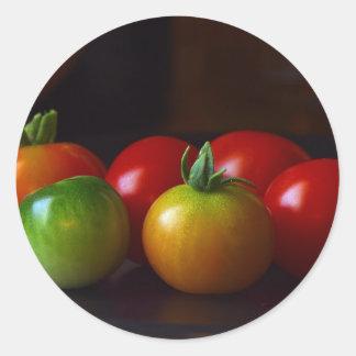 cherry-tomatos classic round sticker