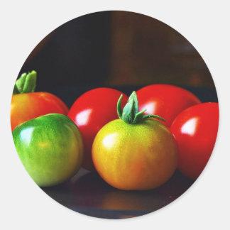 Cherry Tomatos Classic Round Sticker