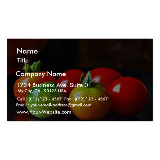 Cherry Tomatos Double-Sided Standard Business Cards (Pack Of 100)